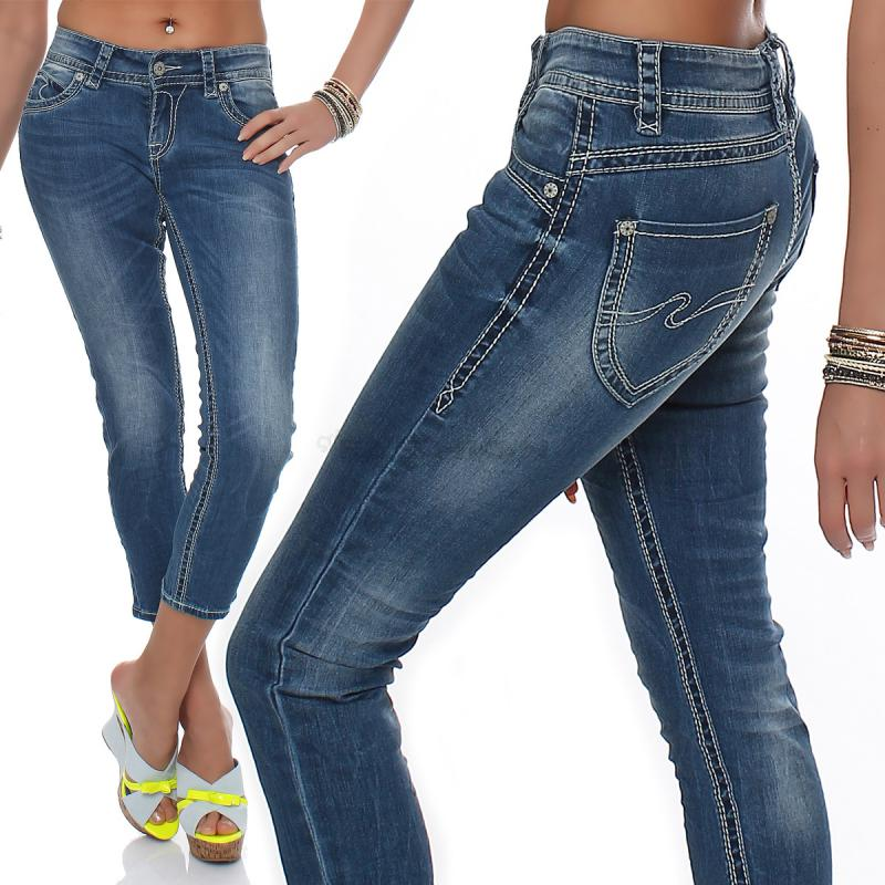 blue monkey damen capri jeans shorts melody bm 35437. Black Bedroom Furniture Sets. Home Design Ideas