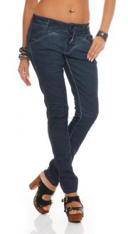 Blue Monkey Damen Jeans Betty BM-11 dark blue