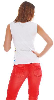 Cipo & Baxx Damen T-Shirt Top CBW 2289 L weiss