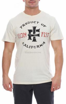 Iron Fist Herren T-Shirt PRODUCT OF CALIFORNIEN off withe Größe M