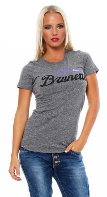 Local Celebrity Damen T-Shirt LIFE IS BETTER BRUNETTE Größe M