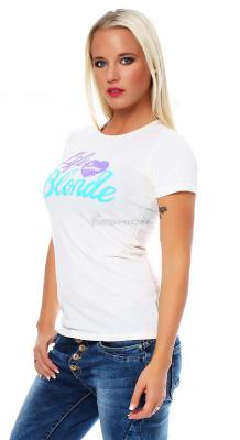 Local Celebrity Damen T-Shirt Kurzarmshirt Shirt BLONDE