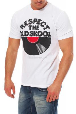 Local Celebrity Herren T-Shirt Shirt Kurzarm RESPECT M100-LOC2688-WHT Größe L