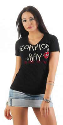 Scorpion Bay Damen T-Shirt WTE3325 schwarz (Black) XS