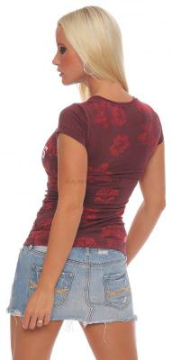 Yakuza Premium Damen T-Shirt GS-2144 bordeaux XL