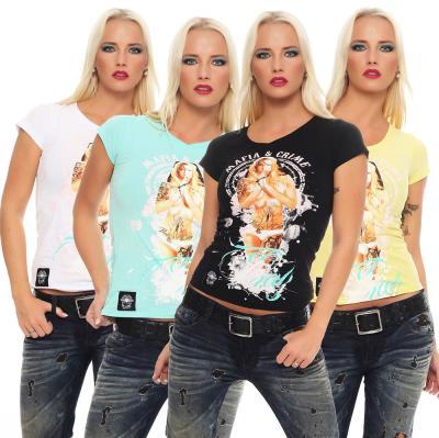 Mafia and Crime Damen T-Shirt Pray weiß L