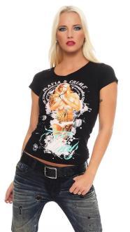 Mafia and Crime Damen T-Shirt Pray gelb XL