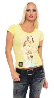 Mafia and Crime Damen T-Shirt Pray mintgrün XL