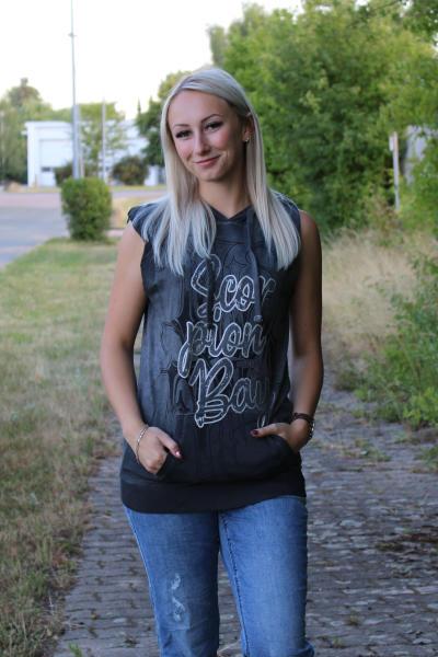 Scorpion Bay Damen Kapuzensweater Sweatweste WFE3301 Schwarz XS