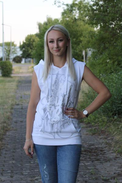 Scorpion Bay Damen Kapuzensweater Sweatweste WFE3301 Weiß XS
