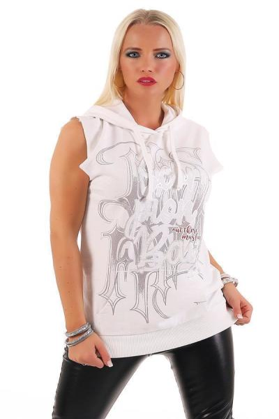 Scorpion Bay Damen Kapuzensweater Sweatweste WFE3301 Weiß XL
