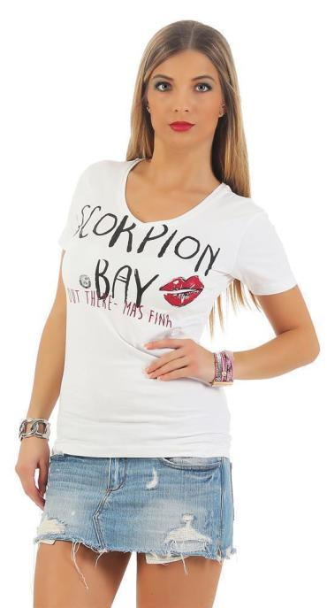 Scorpion Bay Damen T-Shirt WTE3325 blau (blue) L
