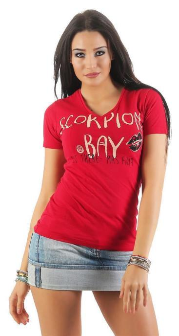 Scorpion Bay Damen T-Shirt WTE3325 blau (blue) XL