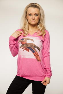 Local Celebrity Damen Sweatshirt Hoodie Airbrushed Ducks...