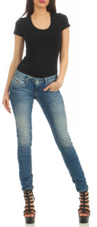 M.O.D Damen Jeans Hose MARIA Douala Blue W33 L 32