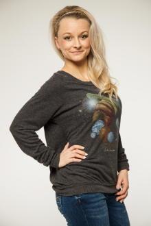 Local Celebrity Damen Shirt, Longsleeve Astronauts Stones Lounger Größe S