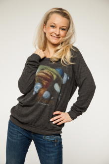 Local Celebrity Damen Shirt, Longsleeve Astronauts Stones Lounger Größe L