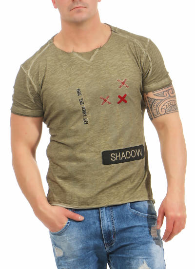 Key Largo Herren T-Shirt SHADOW round