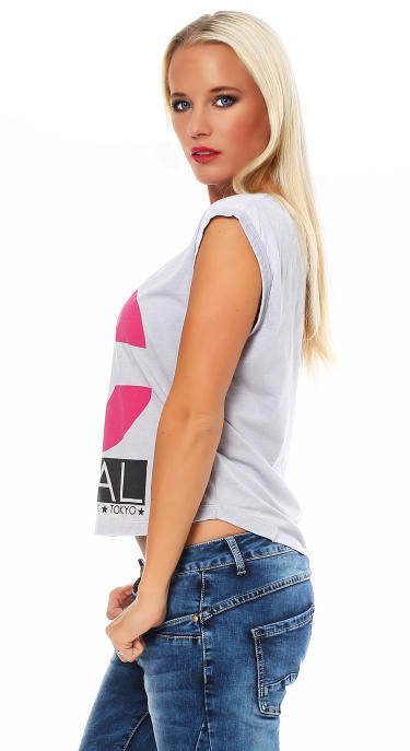 Local Celebrity Damen Shirt, T-Shirt Muscle Shirt LC Logo Größe S