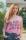 Local Celebrity Damen T-Shirt Shirt Kurzarmshirt Top Damenshirt Group Hug