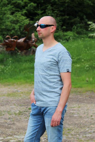 M.O.D Herren T-Shirt Kurzarmshirt TS 817 Dusty Blue Größe XL