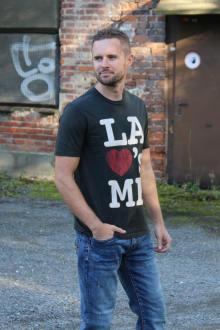 Local Celebrity Herren T-Shirt LA Loves Größe M