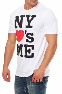 Local Celebrity Herren T-Shirt Kurzarmshirt Shirt  NY LOVES