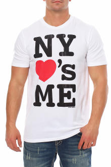 Local Celebrity Herren T-Shirt Kurzarmshirt Shirt  NY LOVES