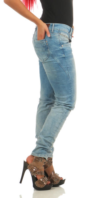 M.O.D Damen Jeans Hose MARIA Pretoria Blue Destroyed
