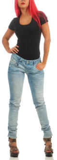 M.O.D Damen Jeans Hose MARIA Pretoria Blue Destroyed W34 L 32