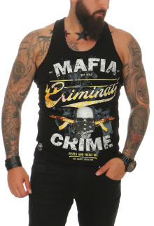 Mafia & Crime Herren T-Shirt Tank Top CRIMINAL 497 Schwarz 2XL