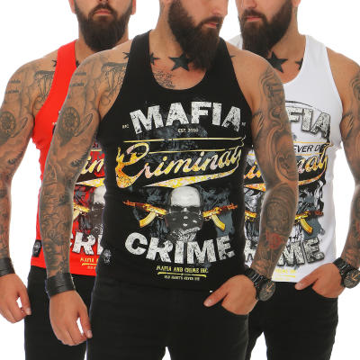 Mafia & Crime Herren T-Shirt Tank Top CRIMINAL 497 Rot XL