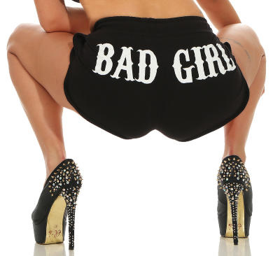 Mafia und Crime Damen Hotpants BAD GIRL 533 schwarz M