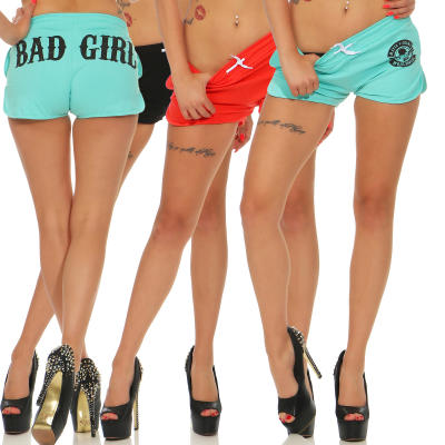 Mafia und Crime Damen Hotpants BAD GIRL 533 schwarz L