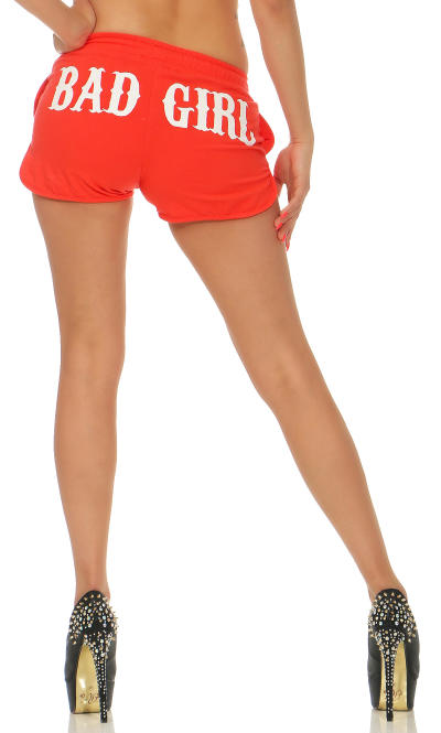 Mafia und Crime Damen Hotpants BAD GIRL 533 schwarz 2XL