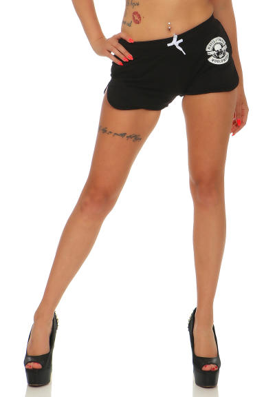 Mafia und Crime Damen Hotpants BAD GIRL 533 rot XS