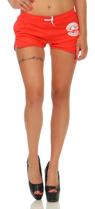 Mafia und Crime Damen Hotpants BAD GIRL 533 rot S
