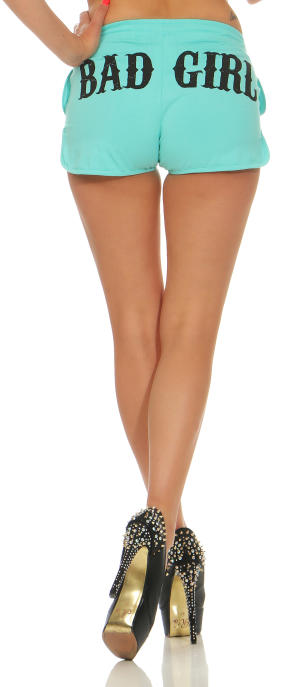 Mafia und Crime Damen Hotpants BAD GIRL 533 rot M