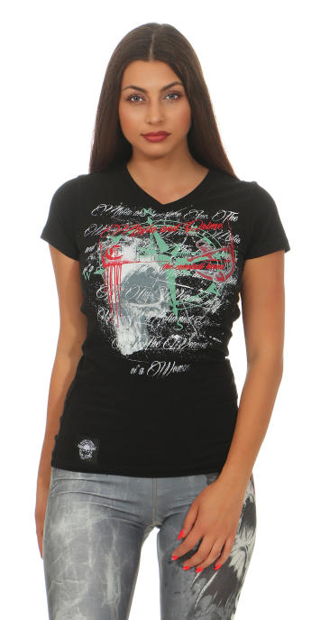 Mafia & Crime Damen T-Shirt V-Neck 396 L