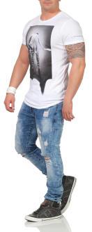 Religion Herren T-Shirt ROCK STAR CURVE - 48BRSF30013 2XL