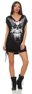 Religion Damen Dress SKULL WINGS GRAPHIC - 88EMTD24873 S