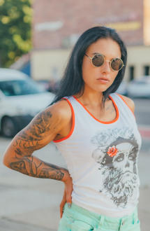 Mafia & Crime Damen T-Shirt Tank Top IN NOMINE 509 M