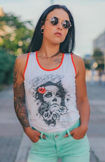 Mafia & Crime Damen T-Shirt Tank Top IN NOMINE 509 L