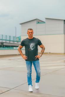 Herren T-Shirt Lion Löwenkopf