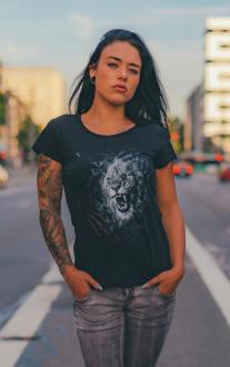Damen T-Shirt Lion Löwenkopf