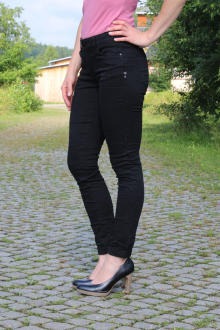 Buena Vista Damen Jeans Hose Italy black Stretch Twill