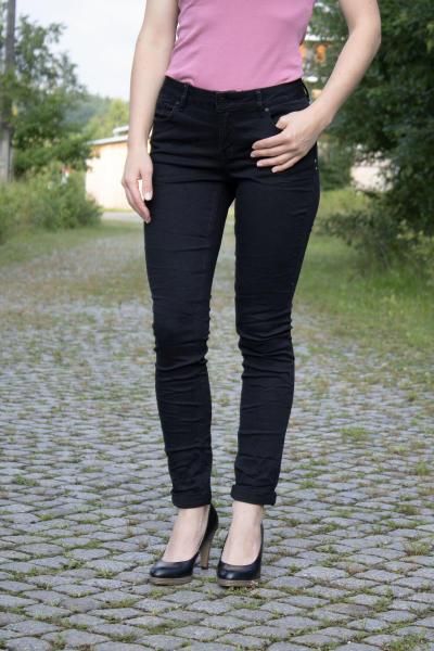Buena Vista Damen Jeans Hose Italy black Stretch Twill XS