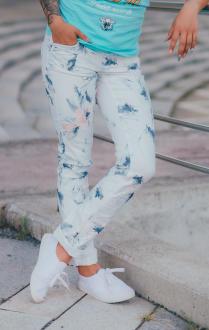 M.O.D Damen Jeans Rachel Regular white flower W30