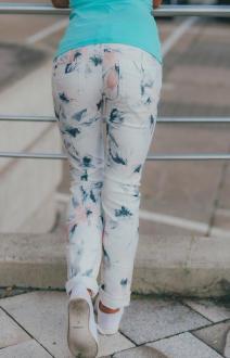 M.O.D Damen Jeans Rachel Regular white flower W32