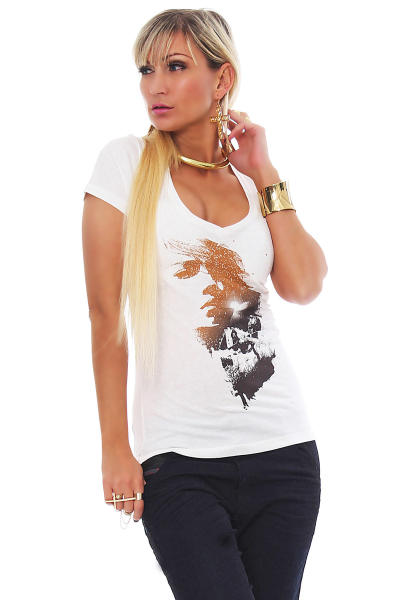 Tee Library Damen T-Shirt Longing L